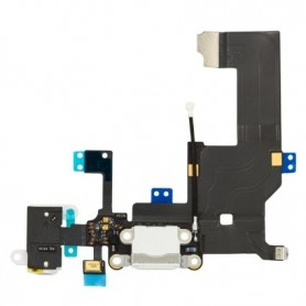 FLEX CONECTOR CARGA / MICROFONO IPHONE 5 BLANCO