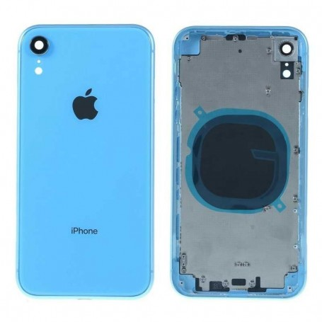 CHASIS MARCO CON TAPA TRASERA PARA IPHONE XR SIN COMPONENTES AZUL