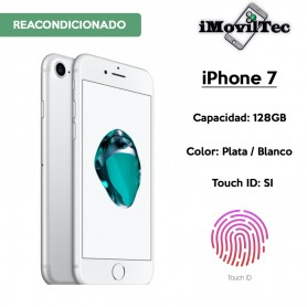 IPHONE 7 128GB PLATA / BLANCO CON TOUCH ID - LIBRE