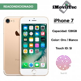 IPHONE 7 128GB ORO / BLANCO CON TOUCH ID - LIBRE